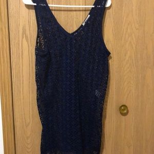 Mikey swim suit cover up.   Navy blue size Large